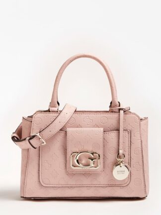 Guess Emilia Embossed Logo Handbag