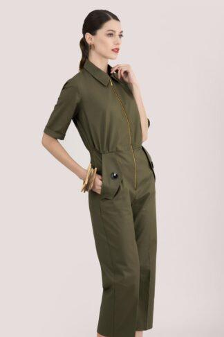 Olive Short Sleeve Boiler Suit