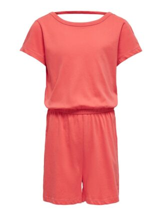 ONLY Solid Colored Playsuit Women Red