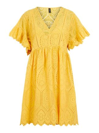 Y.A.S Yasrose Broderie Dress Women Yellow