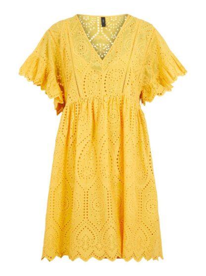 Y.A.S Yasrose Broderie Dress Women Yellow