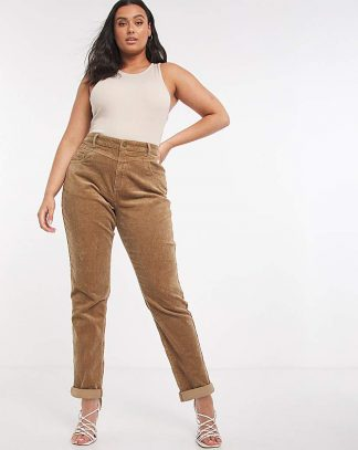 Camel Cord Mom Jeans